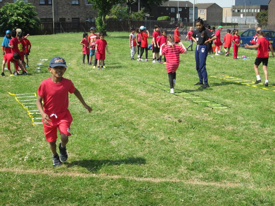 We all had fun at the queen's sports day.
