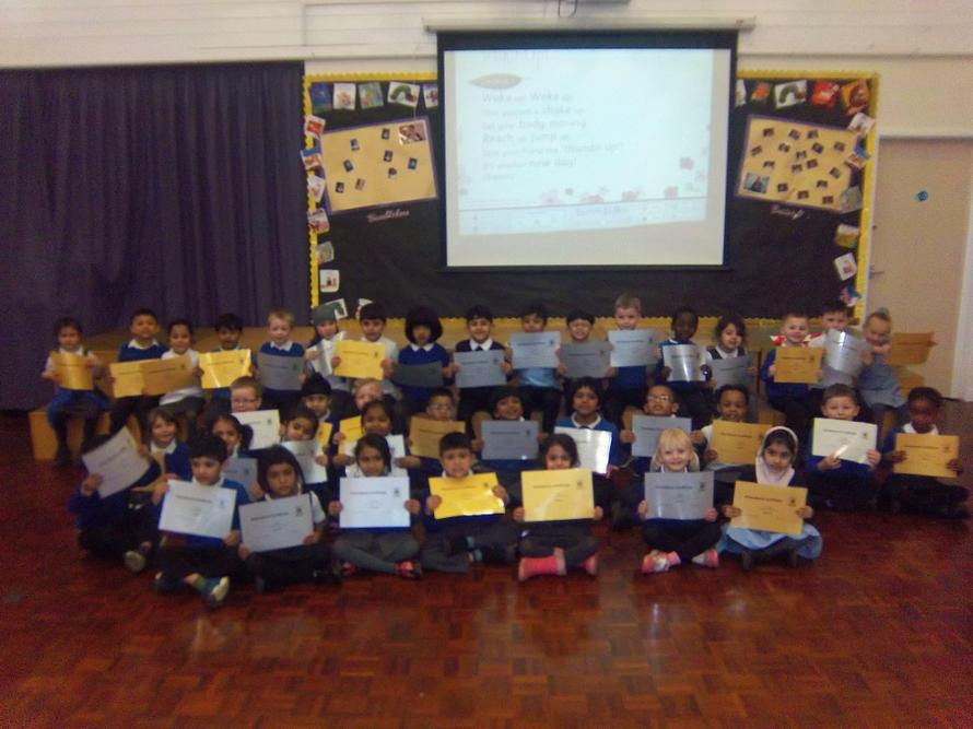 Well done to all the children who had wonderful attendance.