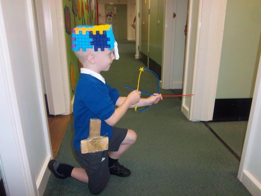 Our Merrydale Knight made his own equipment.