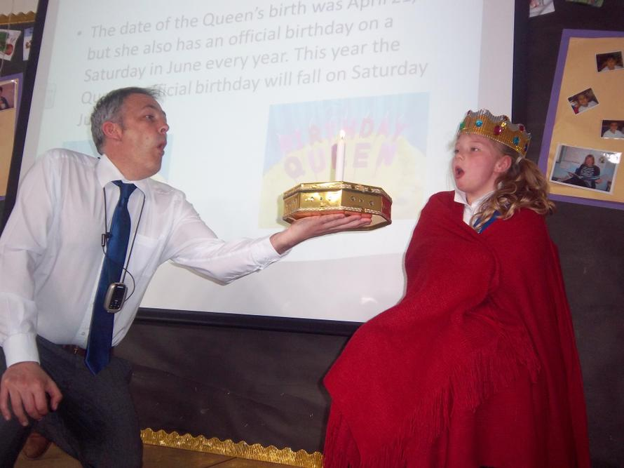 We celebrated the Queen's 90th birthday.