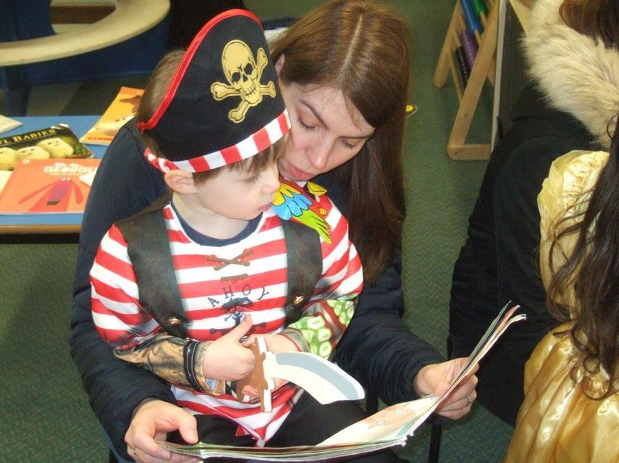 We loved sharing books for world book day.