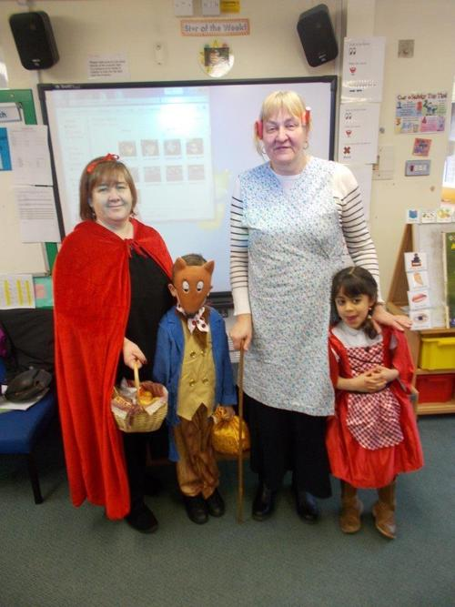 Little Red Riding Hood visited the school for World Book day.