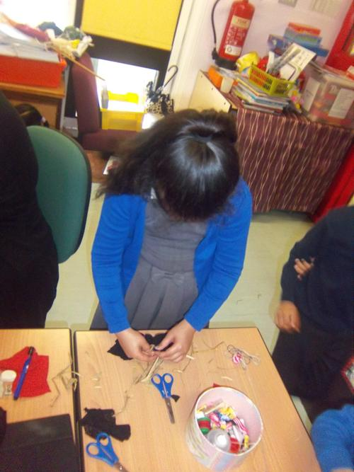 We made our own scarecrows ' that wouldn't scare'