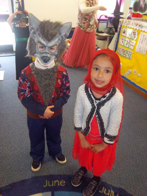Look behind you Little Red Riding Hood.