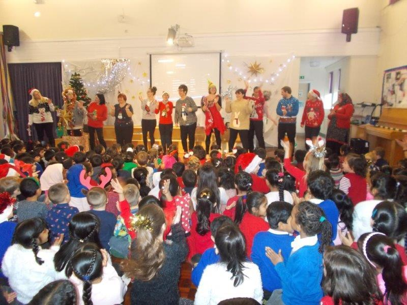 The staff showed off their Christmas jumpers.