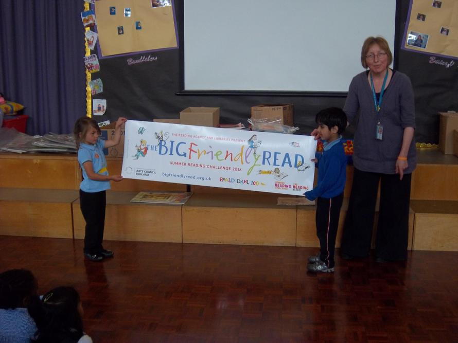 The Local Library visited and told us about the Big Friendly Read.