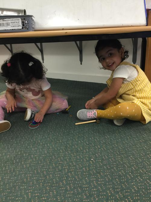 Learning is always so much better under a table.