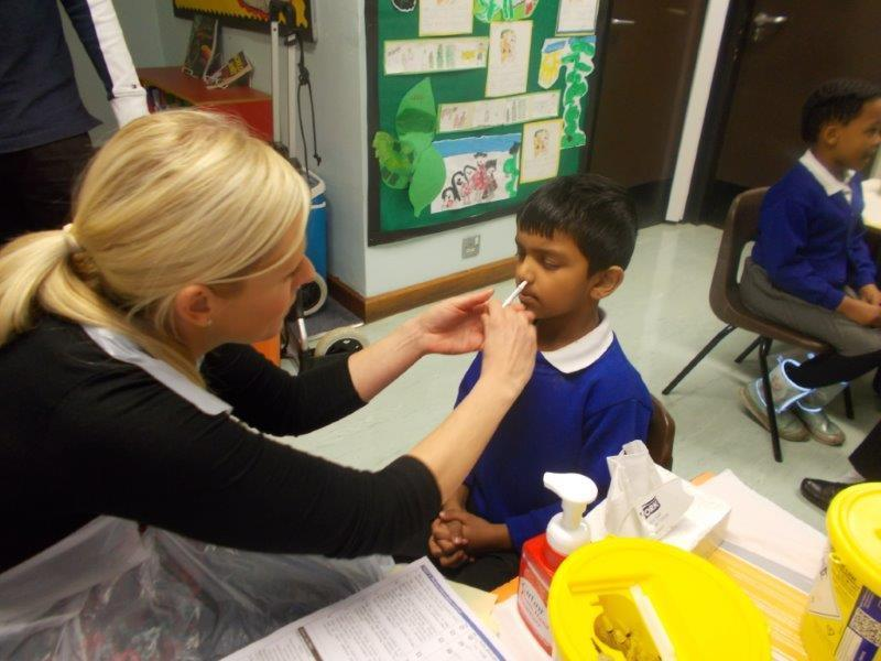 Our children were very good when they had the flu vaccination.