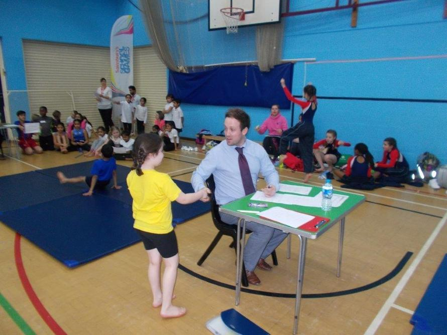 We were fantastic sports people at the gymnastics festival.