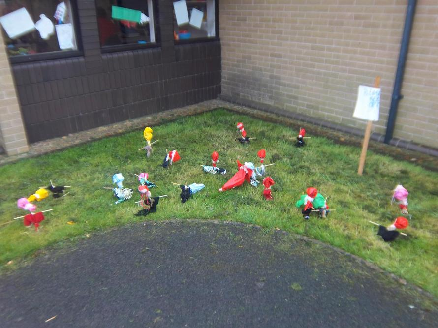 The Year 2 scarecrows scared away all the birds