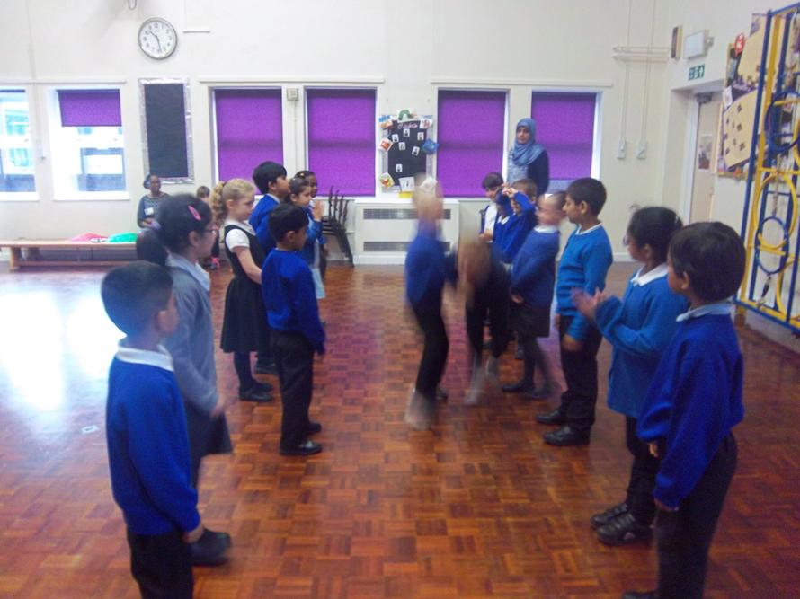 Our Year 1 children have been learning country dancing.