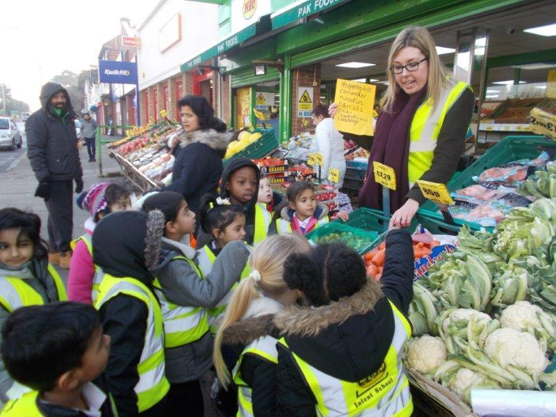 Starlight class went healthy food shopping.
