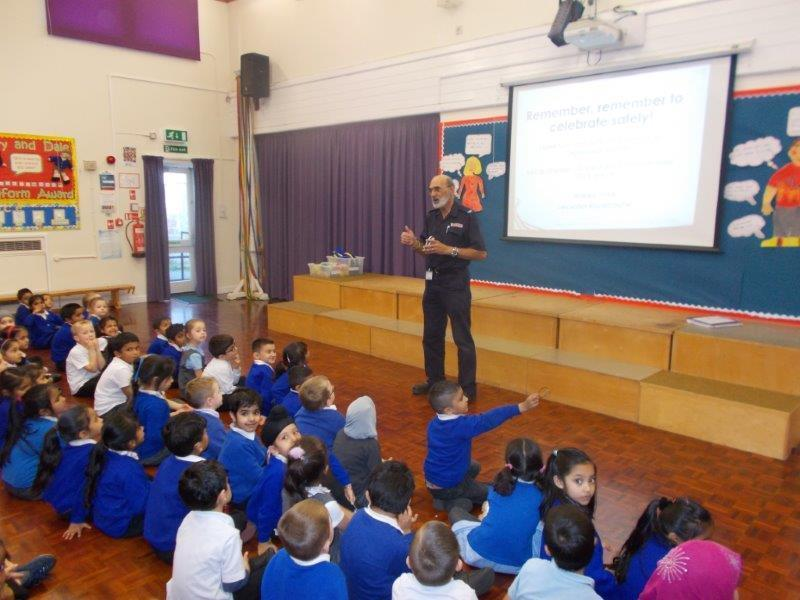 The fire service came in to talk about staying safe.