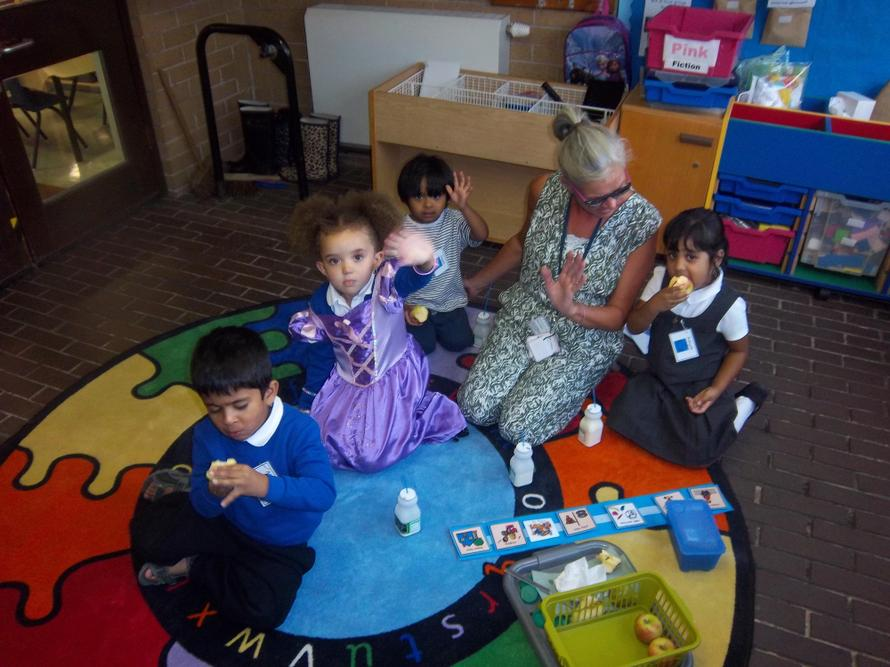 Our Moonbeam children have a great first day at school.
