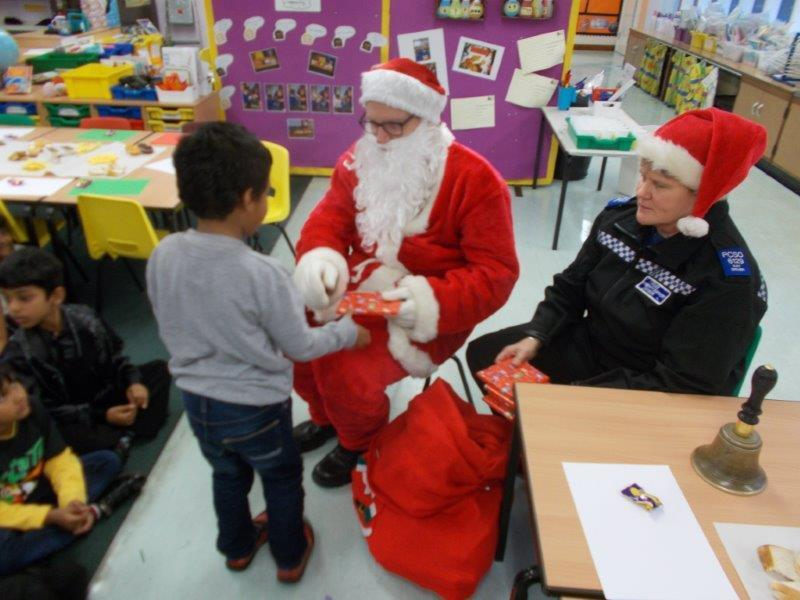 Santa visited our Christmas parties.