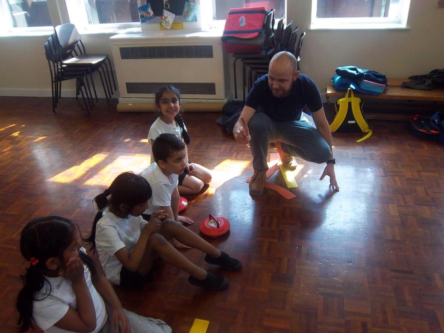 Our children are working on their Kurling skills.