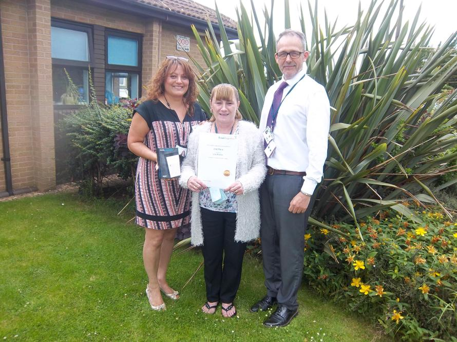 Mrs Palmer won an award for her online learning.