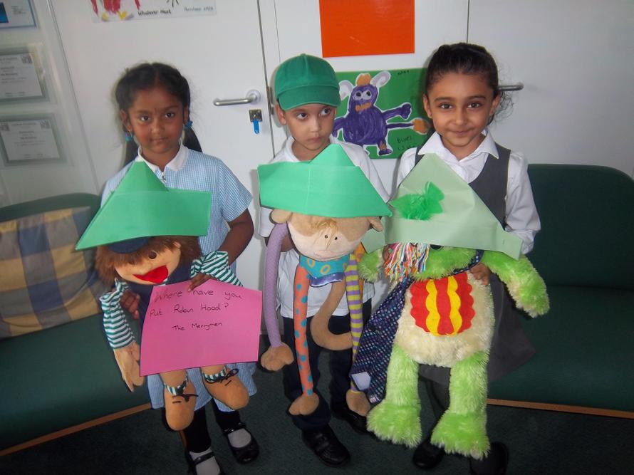 Our children made their own Robin Hoods.