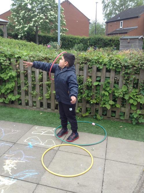 Look! Arm hula hooping!