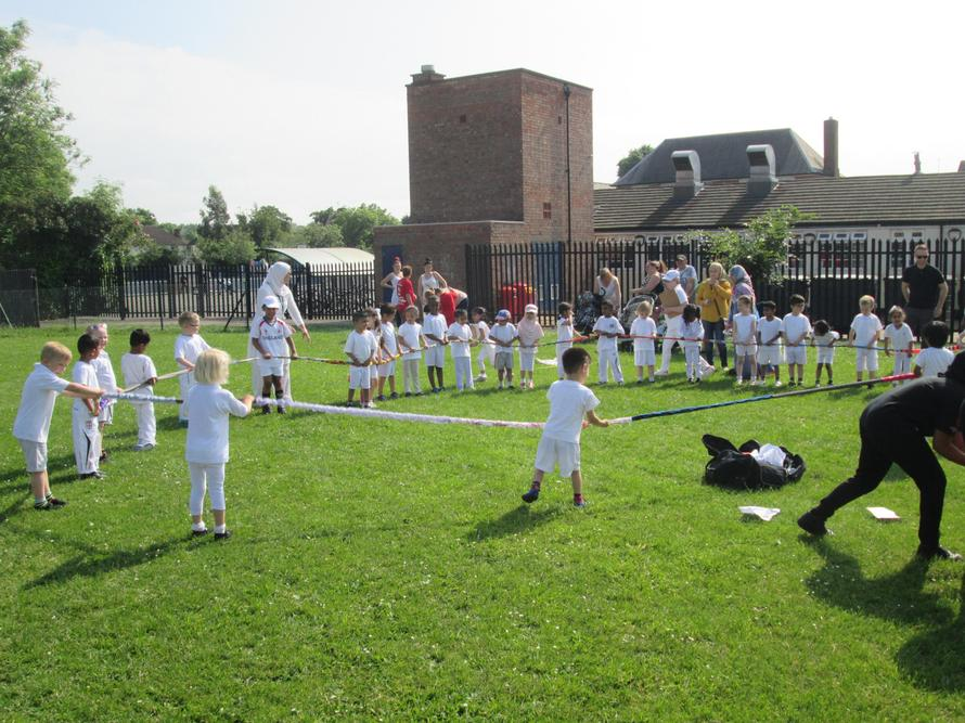 We danced and sang at our sports day.