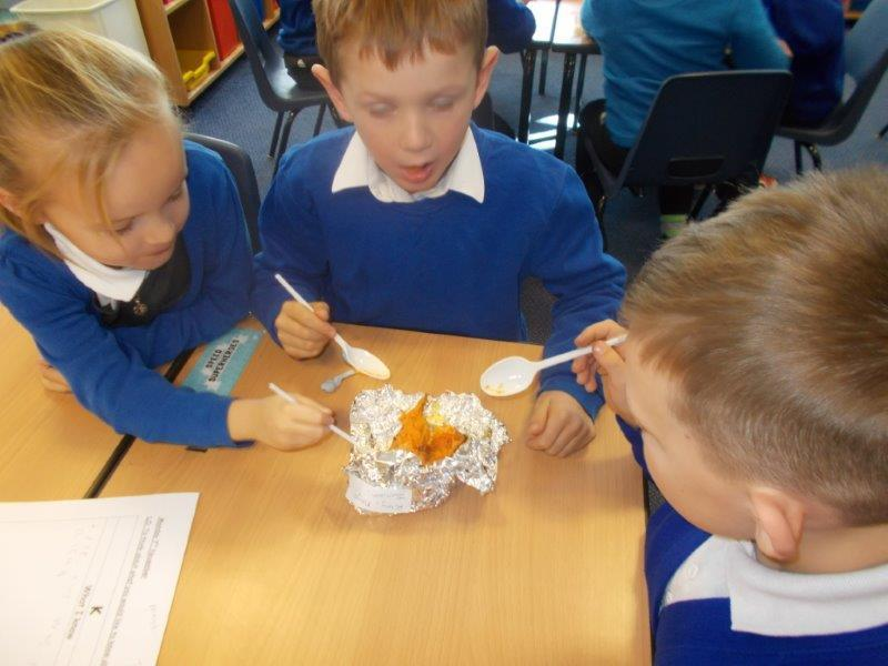 Year 2 made traditional Jamaican food then ate it.