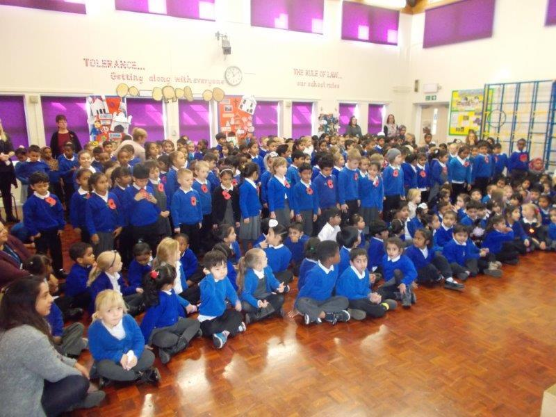 We had a collective worship for Remembrance.