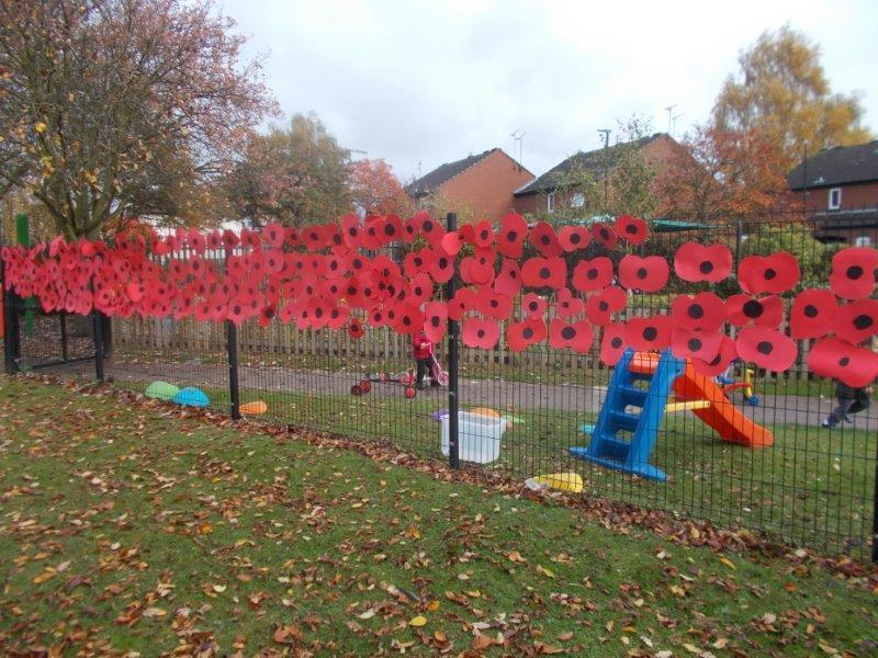 Our poppies help us to remember those who died for us in wars.