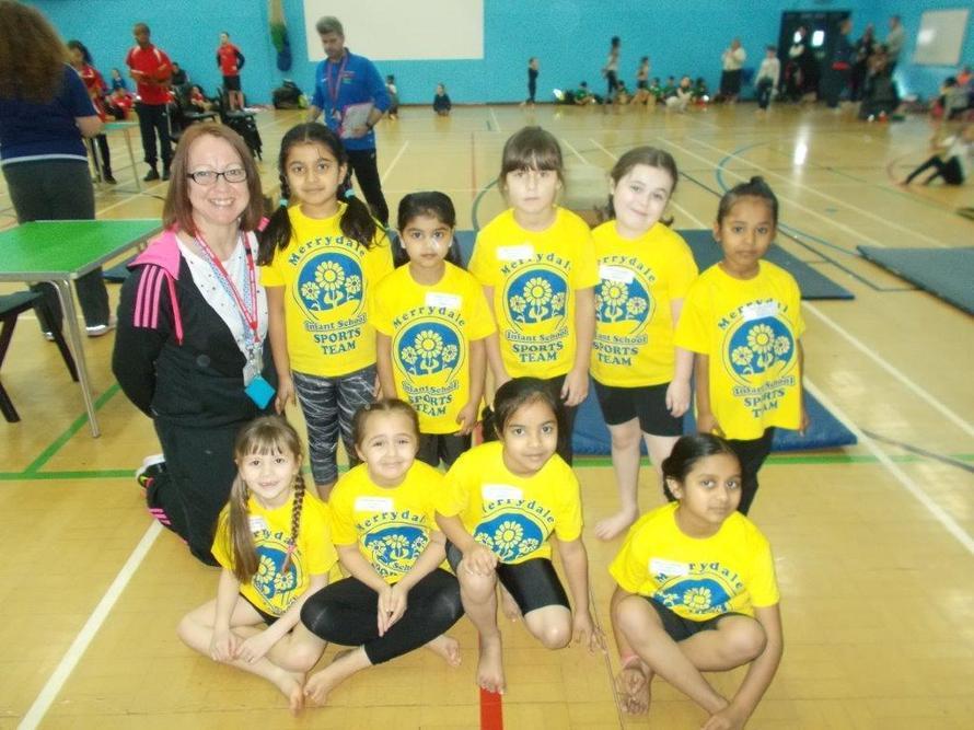 Merrydale Gymnastics team were fantastic at the sports festival.