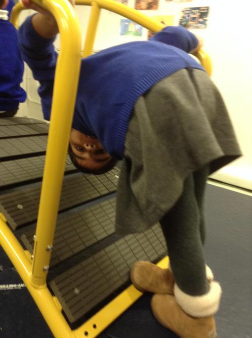 Upside down!