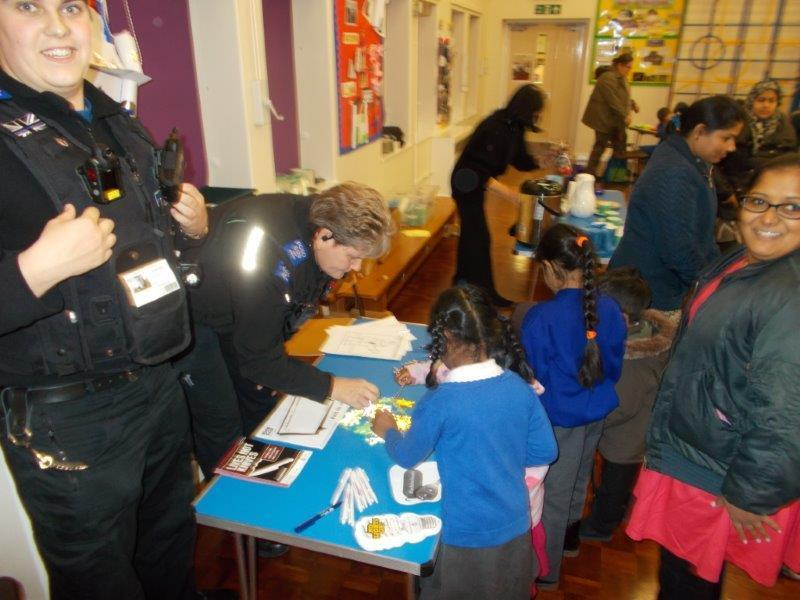 Our parents chatted with the police at parents evening.