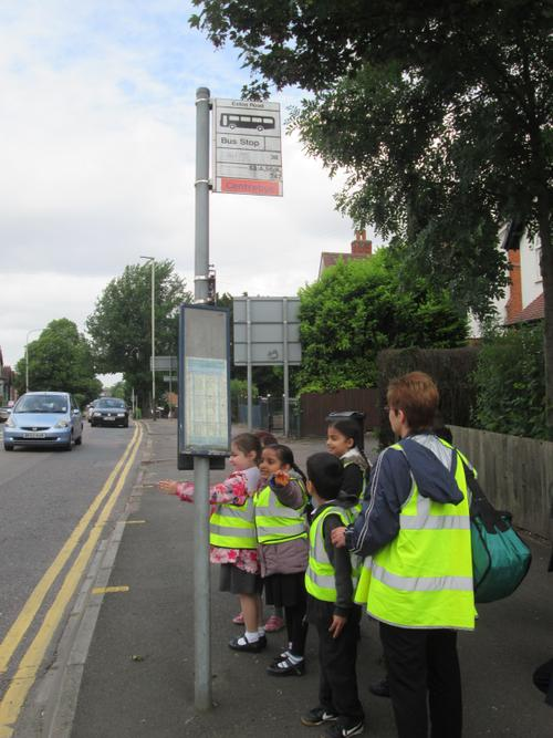 Our children learn all about road safety on their walk