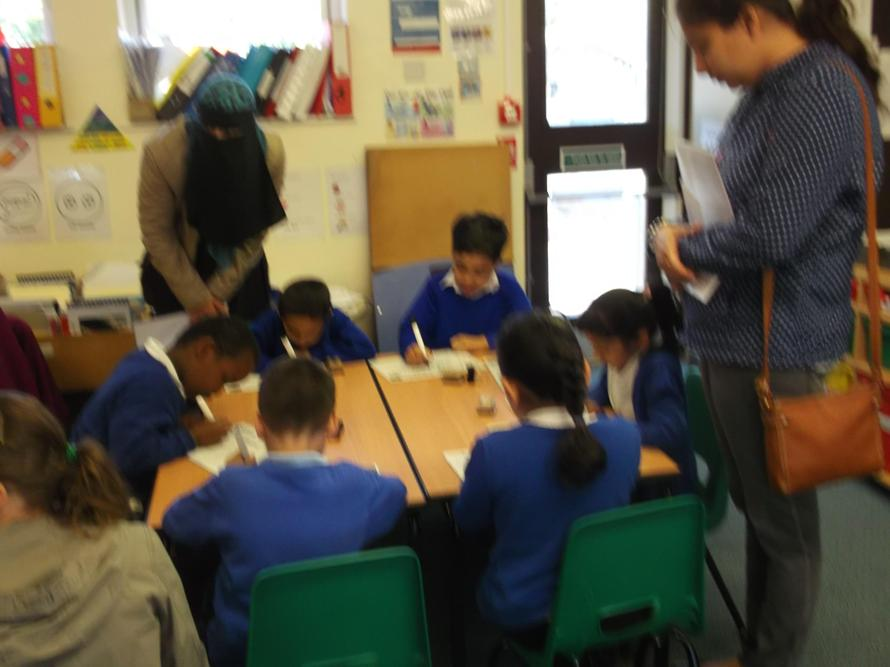 Year 1 parents attended a phonics lesson.