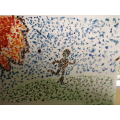 Seurat inspired art using Piontallism techniques