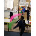Scarf juggling!