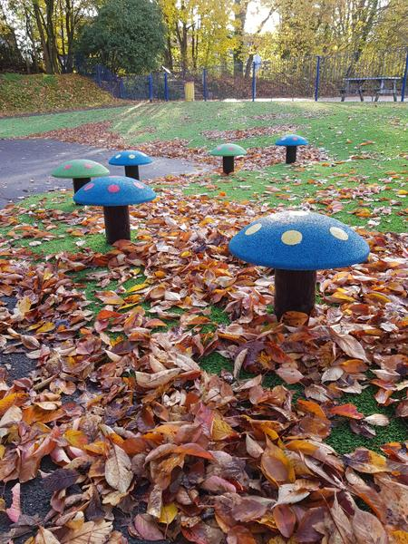 Year 2 outside area - Toad-stools!