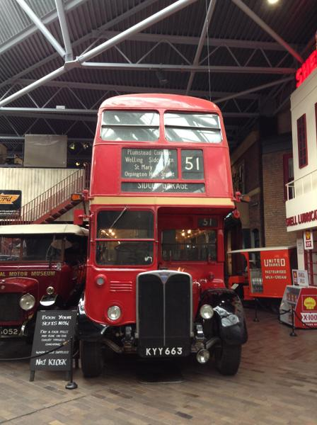 An old London bus