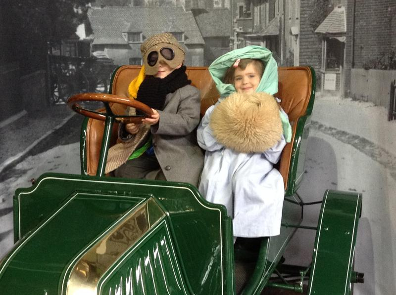 Keeping warm on a day out in the olden days