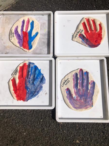 Salt dough hand prints