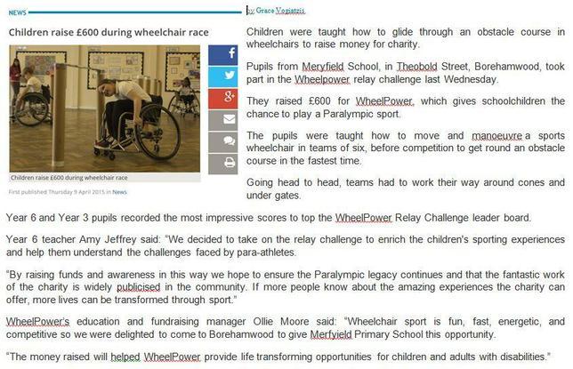 Thankyou! Meryfield raise £1000 1