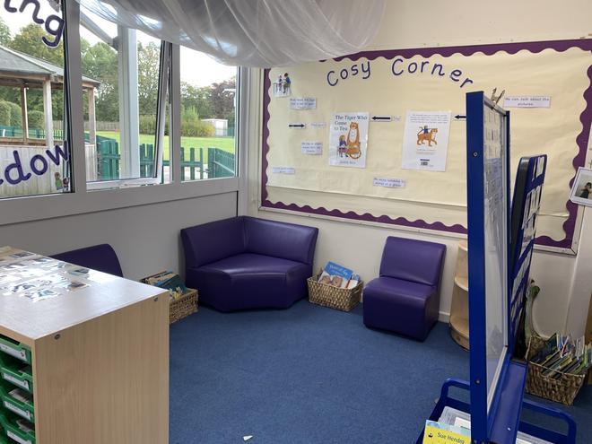 Purple Nursery- Cosy Reading Corner