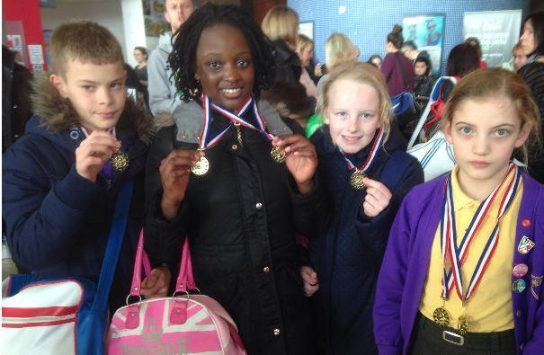 Success at the Borehamwood Schools Swimming Gala 1