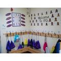 Cloakroom area