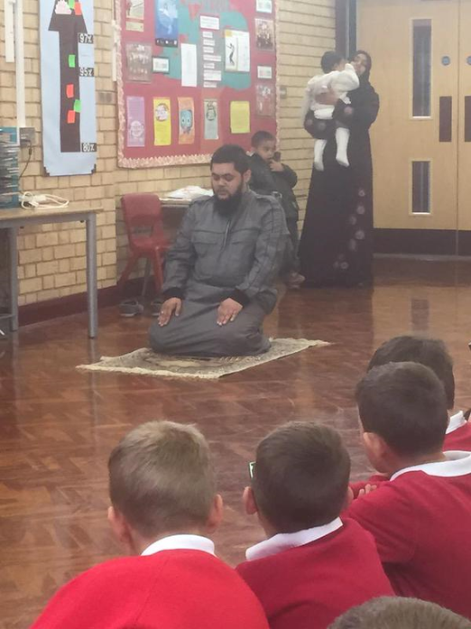 We welcomed Anas and his family to our assembly