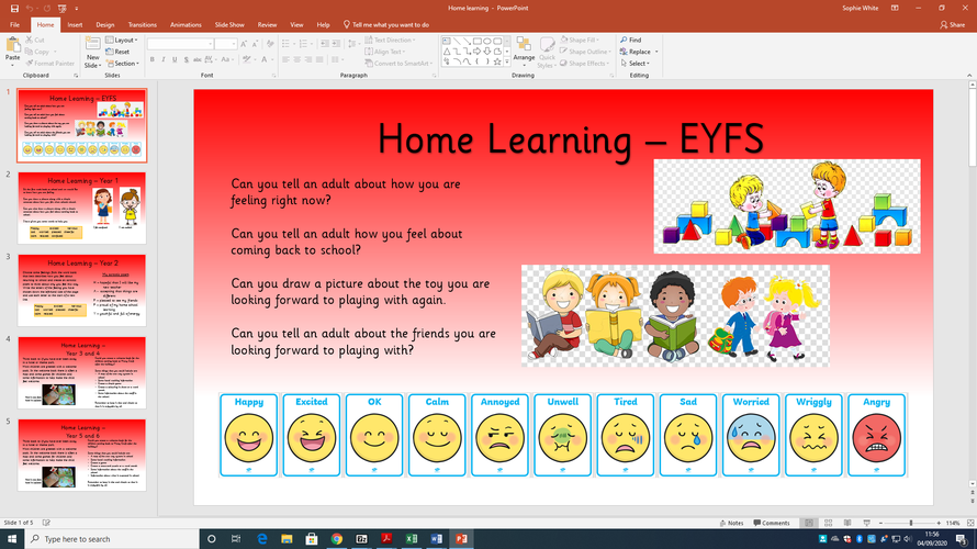 Home Learning for the Children