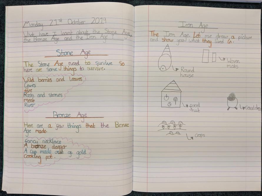 Scarlett's History journal