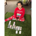 Chanelle learnt to play solitaire!