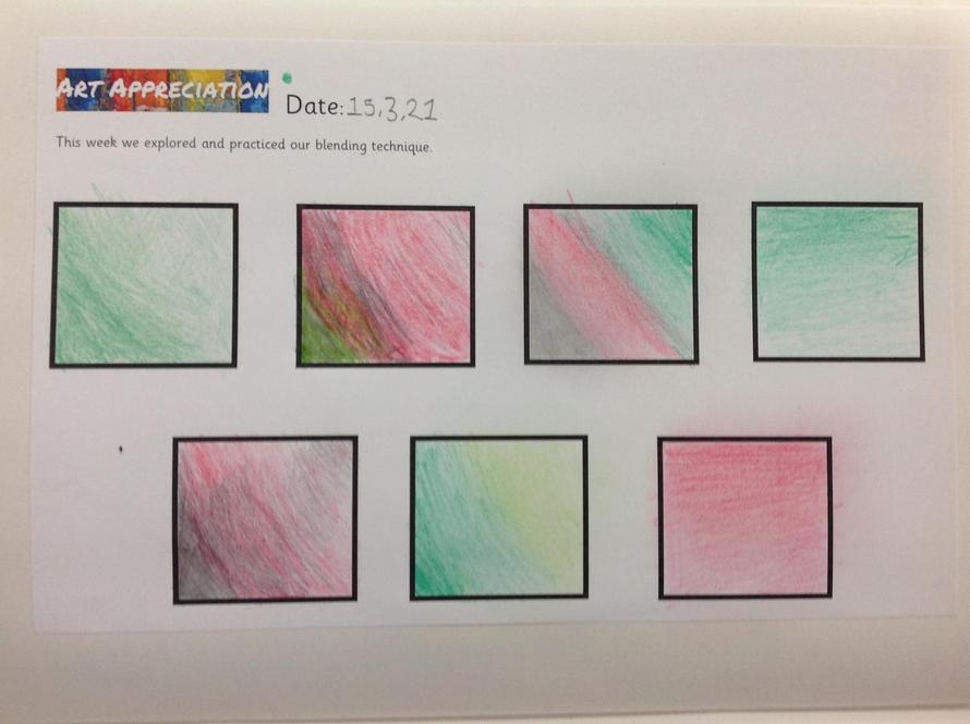 This week we explored blending techniques in art.
