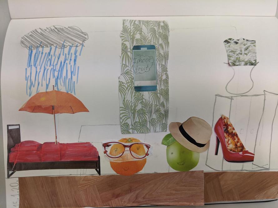 Caitlin's Surrealist collage