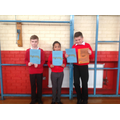 Winner and runners up - Daniel, Dylan and Taabia