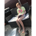Lily reading Dork Diaries!